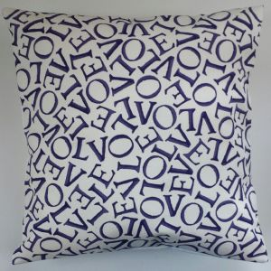 "Cushion Cover in Emma Bridgewater Love Indigo 14"" 16"" 18"" 20"""